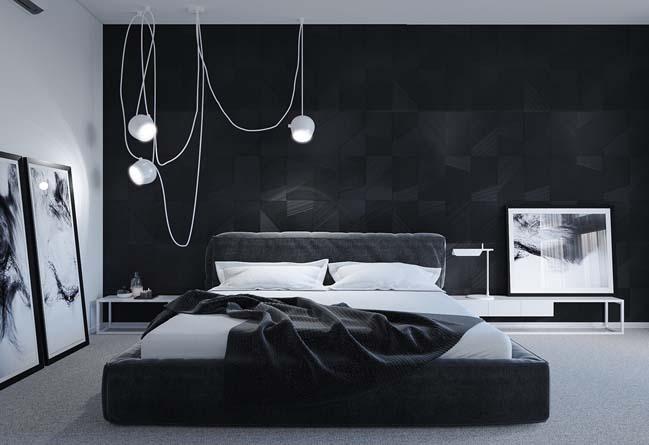 Gợi ý thiết kế nội thất cho phòng ngủ tối màu đầy cuốn hút