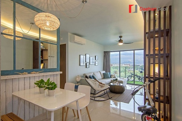 Thiết kế tối giản cho phòng khách hiện đại