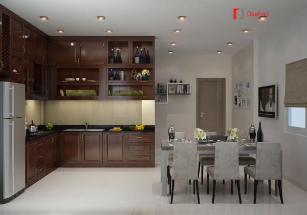 Cửa ABS thổi hồn không gian sáng bừng sức sống phòng bếp